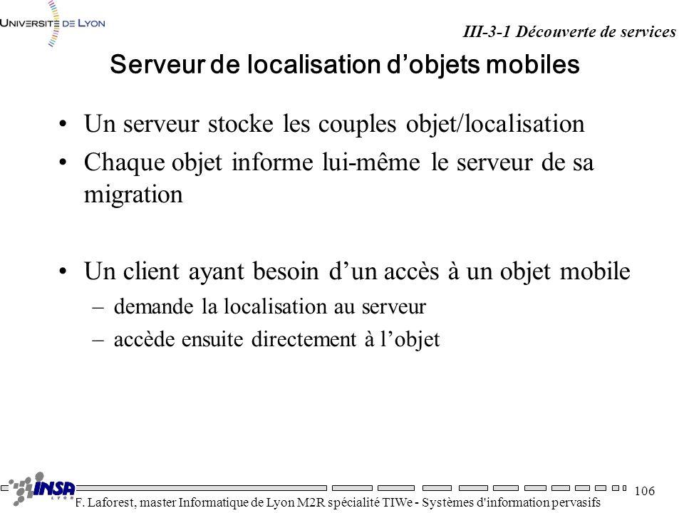 Serveur de localisation d'objets mobiles