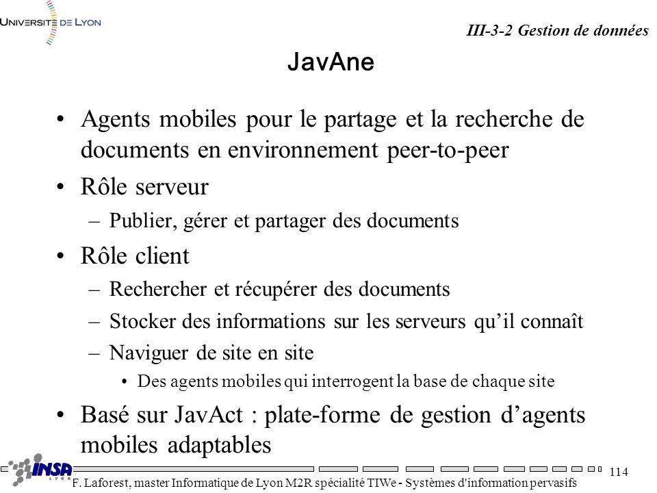 Basé sur JavAct : plate-forme de gestion d'agents mobiles adaptables