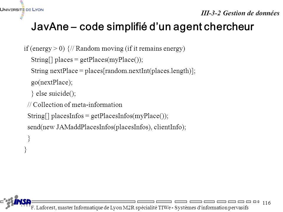 JavAne – code simplifié d'un agent chercheur