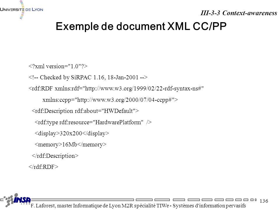Exemple de document XML CC/PP
