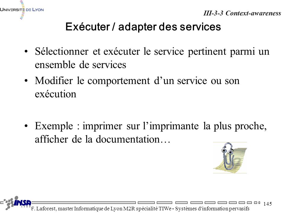 Exécuter / adapter des services