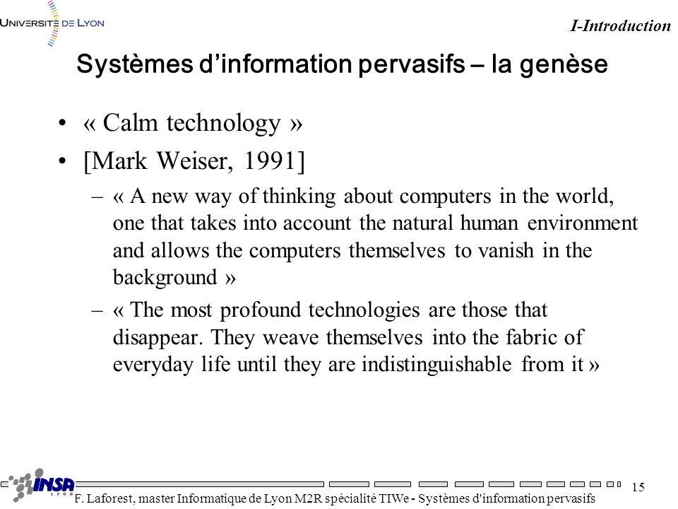 Systèmes d'information pervasifs – la genèse