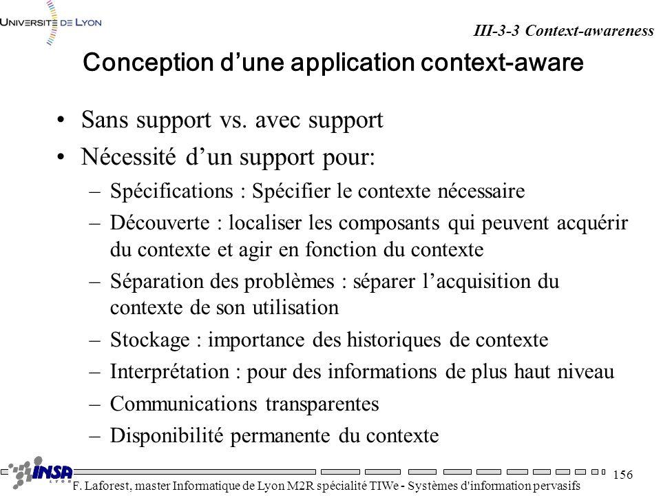 Conception d'une application context-aware
