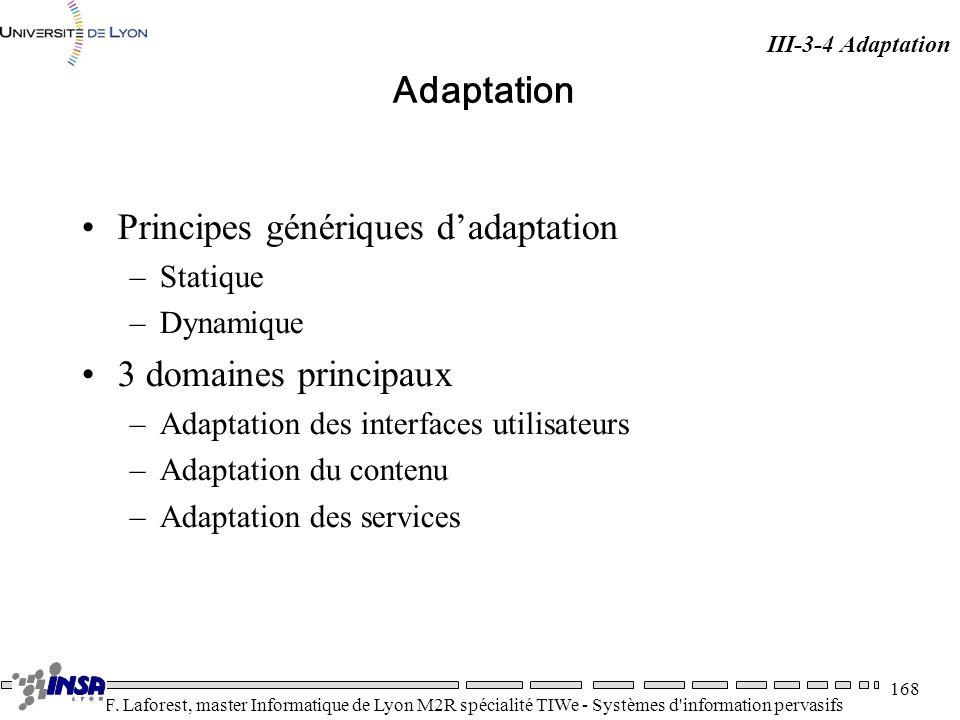 Principes génériques d'adaptation