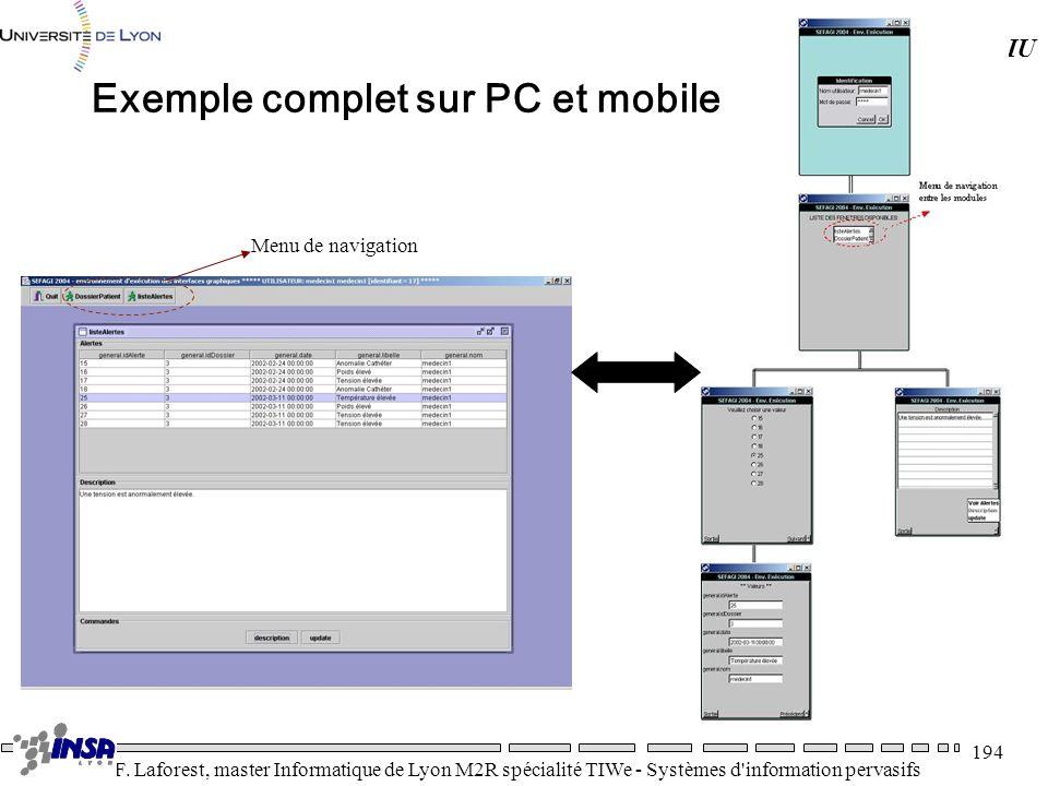 Exemple complet sur PC et mobile