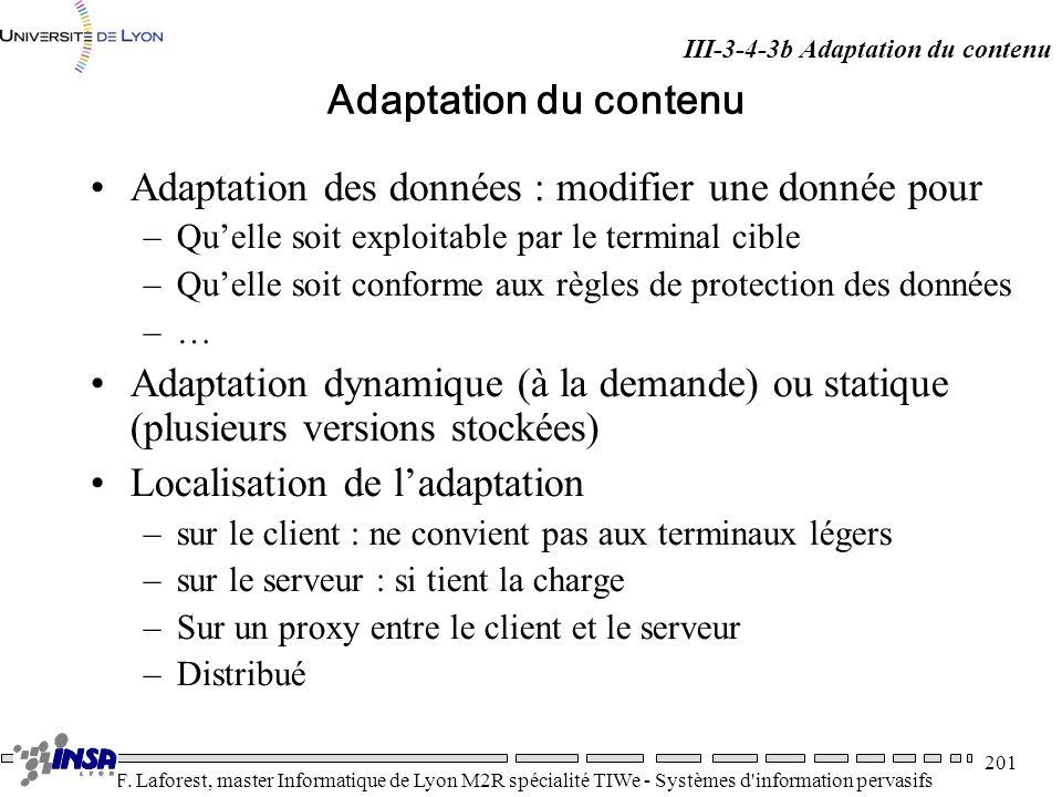 Adaptation des données : modifier une donnée pour