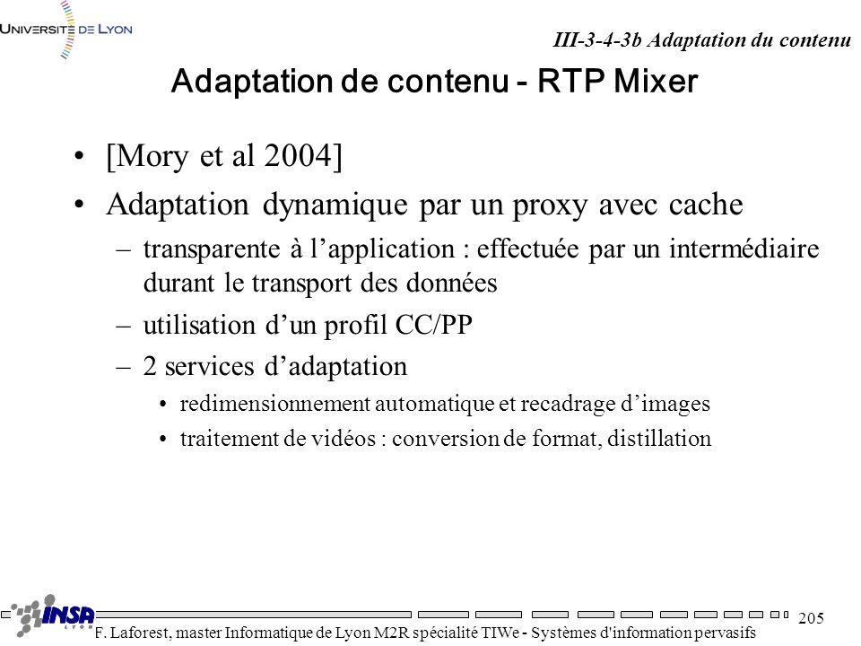 Adaptation de contenu - RTP Mixer