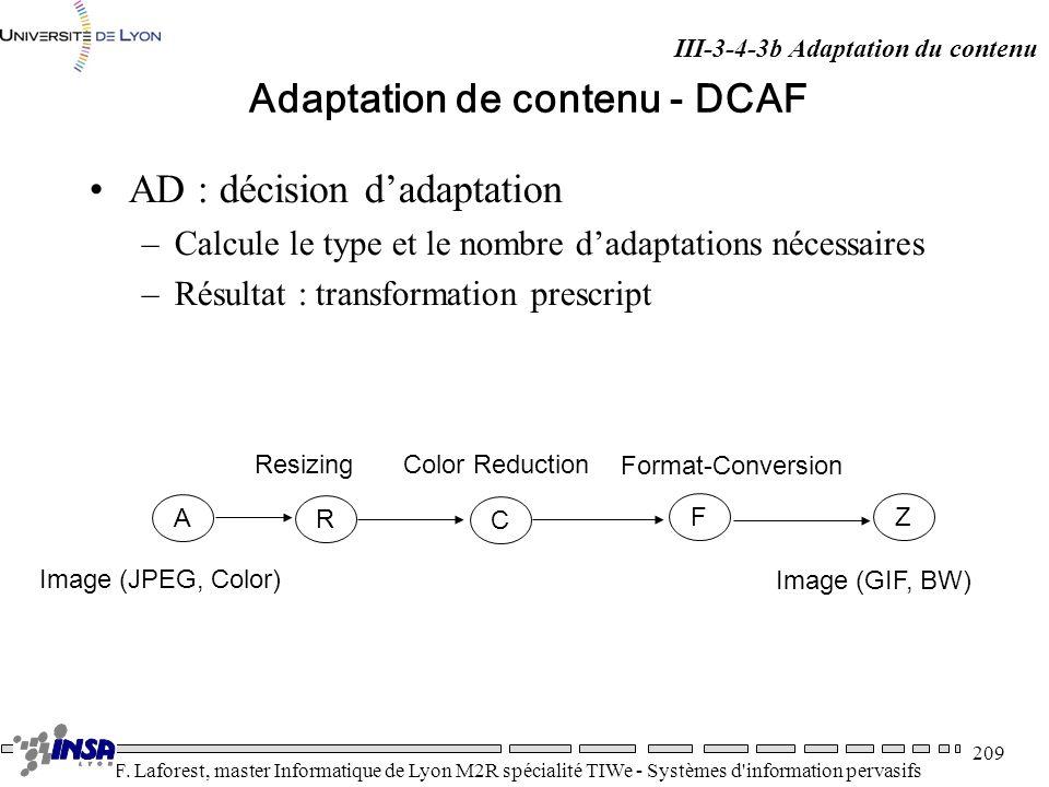 Adaptation de contenu - DCAF
