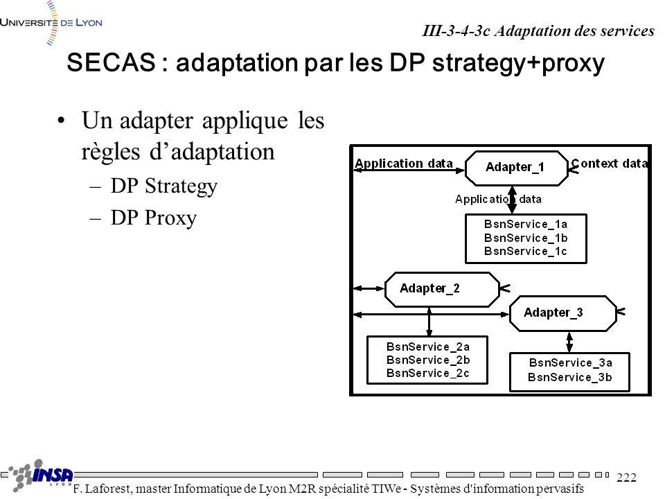SECAS : adaptation par les DP strategy+proxy