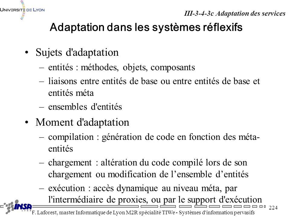 Adaptation dans les systèmes réflexifs