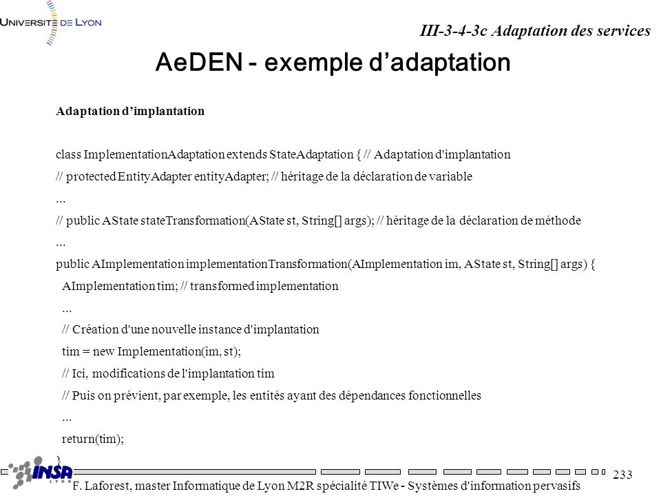 AeDEN - exemple d'adaptation