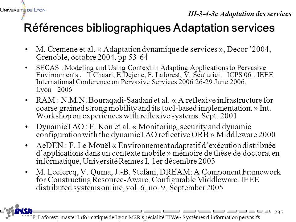 Références bibliographiques Adaptation services
