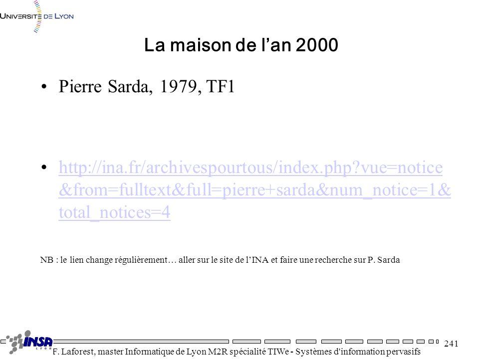 La maison de l'an 2000 Pierre Sarda, 1979, TF1