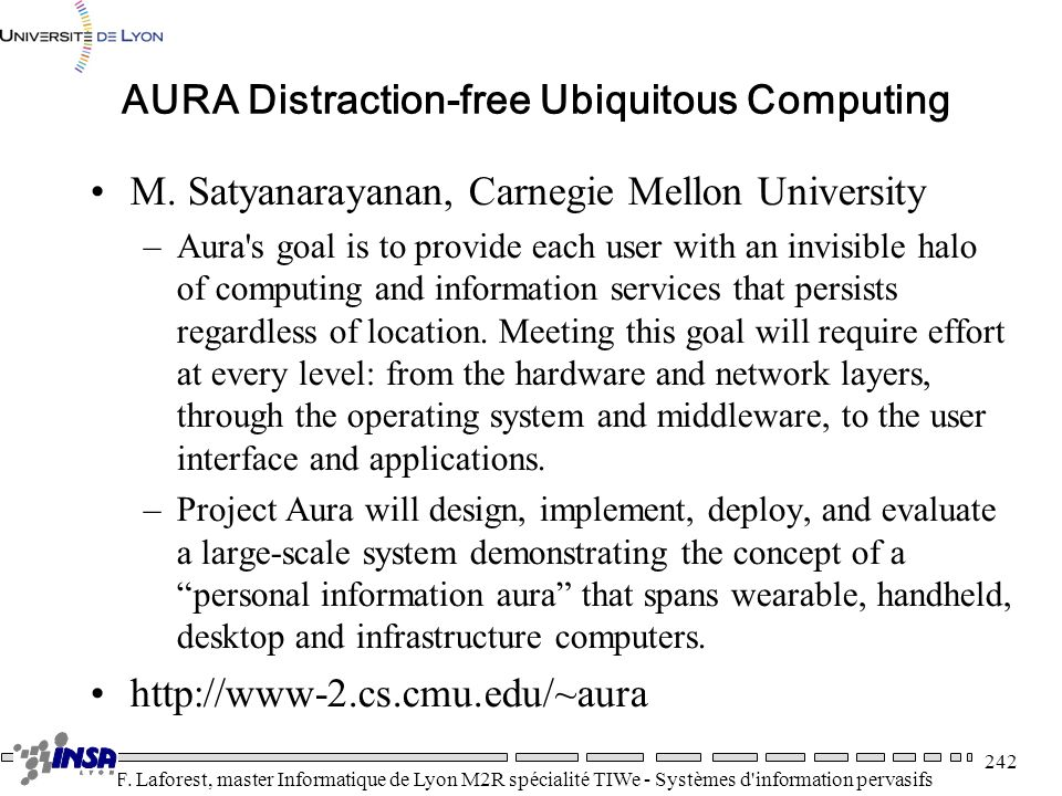 AURA Distraction-free Ubiquitous Computing