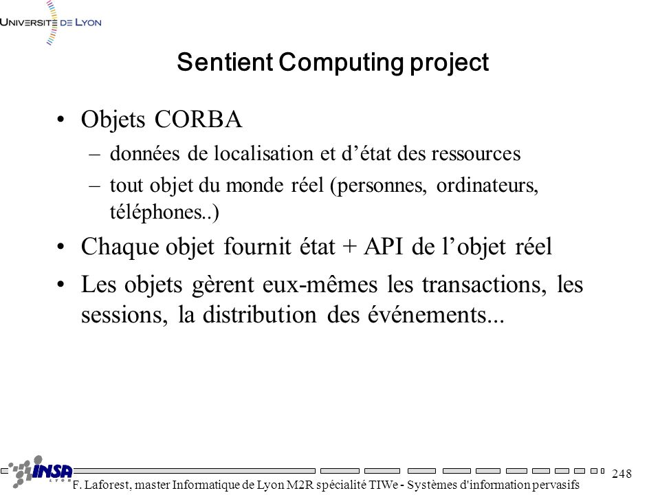 Sentient Computing project