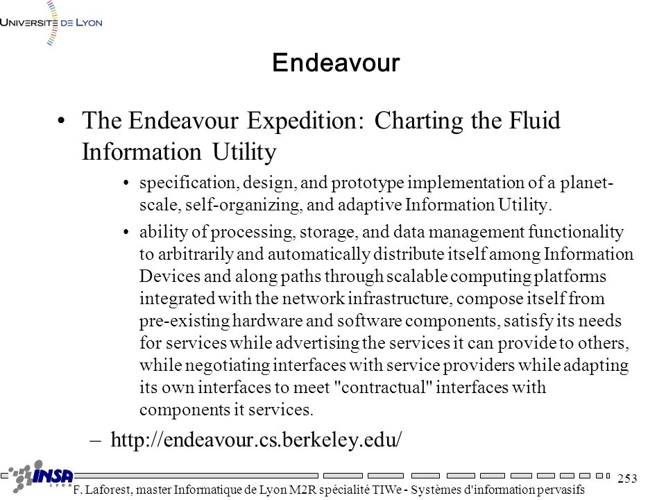 The Endeavour Expedition: Charting the Fluid Information Utility