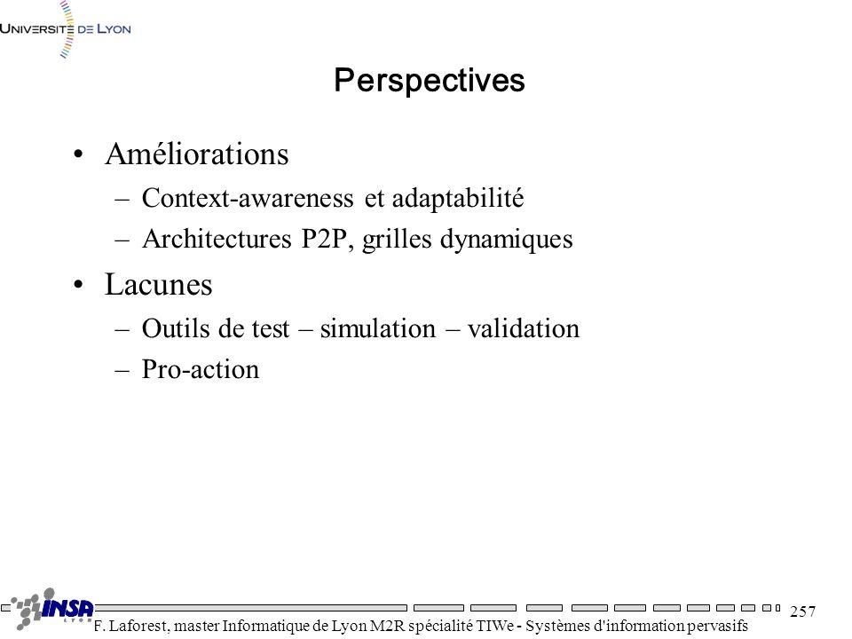 Perspectives Améliorations Lacunes Context-awareness et adaptabilité