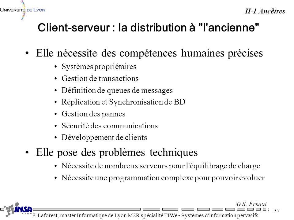 Client-serveur : la distribution à l ancienne