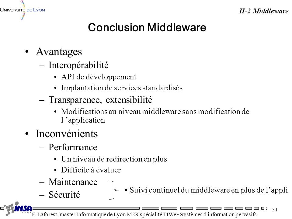 Conclusion Middleware