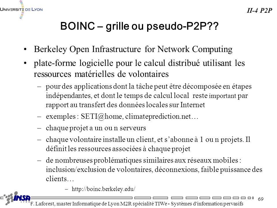 BOINC – grille ou pseudo-P2P