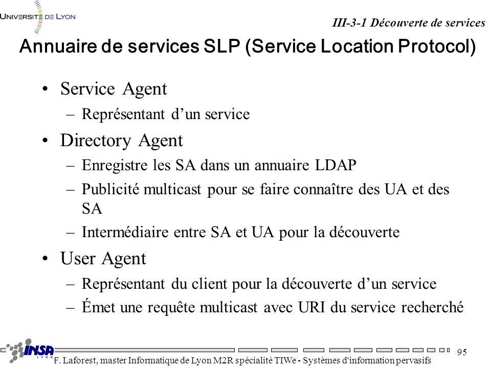 Annuaire de services SLP (Service Location Protocol)