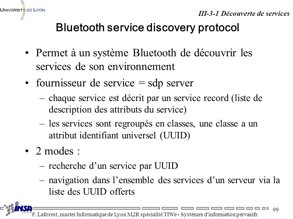 Bluetooth service discovery protocol