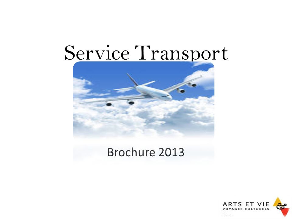 Service Transport Brochure 2013 Service Transport