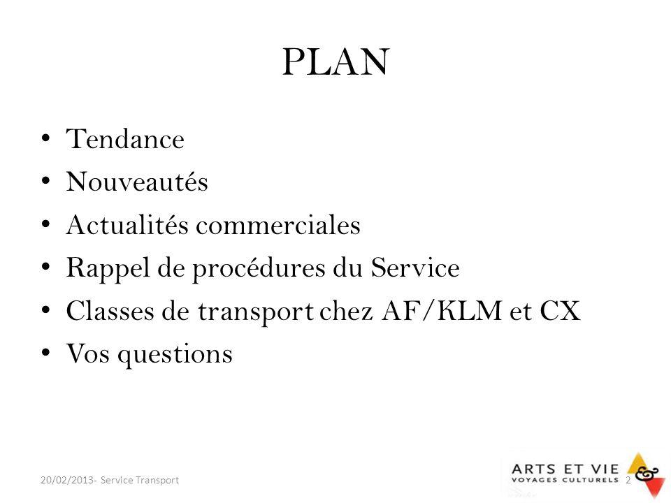 PLAN Tendance Nouveautés Actualités commerciales