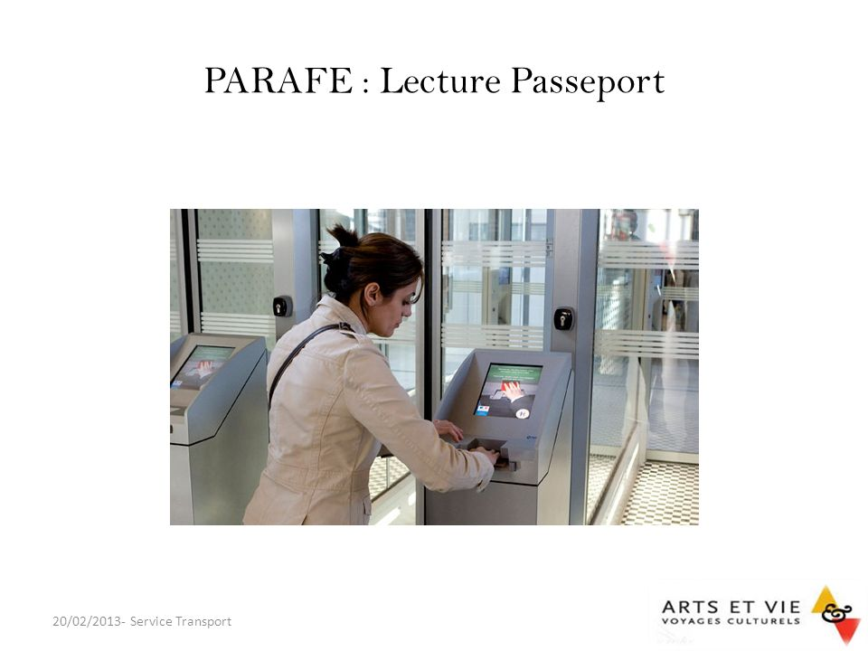 PARAFE : Lecture Passeport