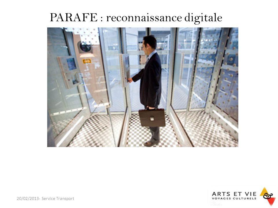 PARAFE : reconnaissance digitale