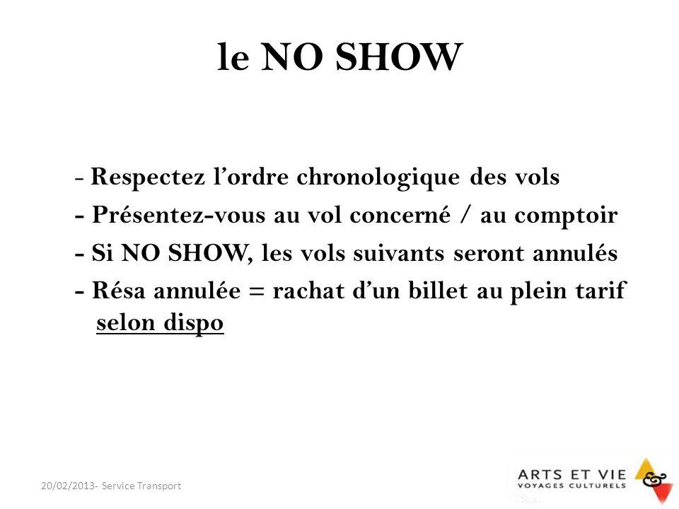 le NO SHOW