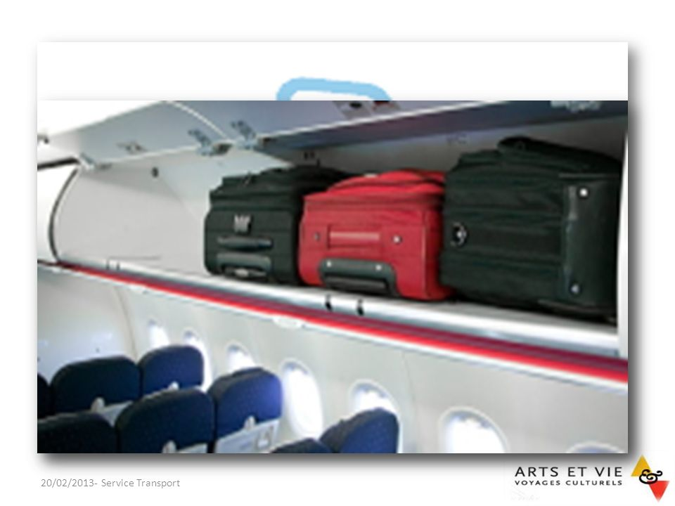 Bagages en cabine 1 bagage standard dont les dimensions maximales :