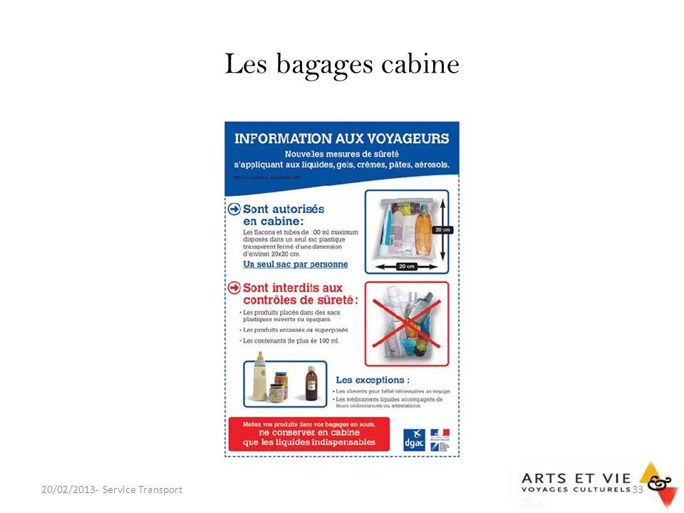 Les bagages cabine 20/02/2013- Service Transport