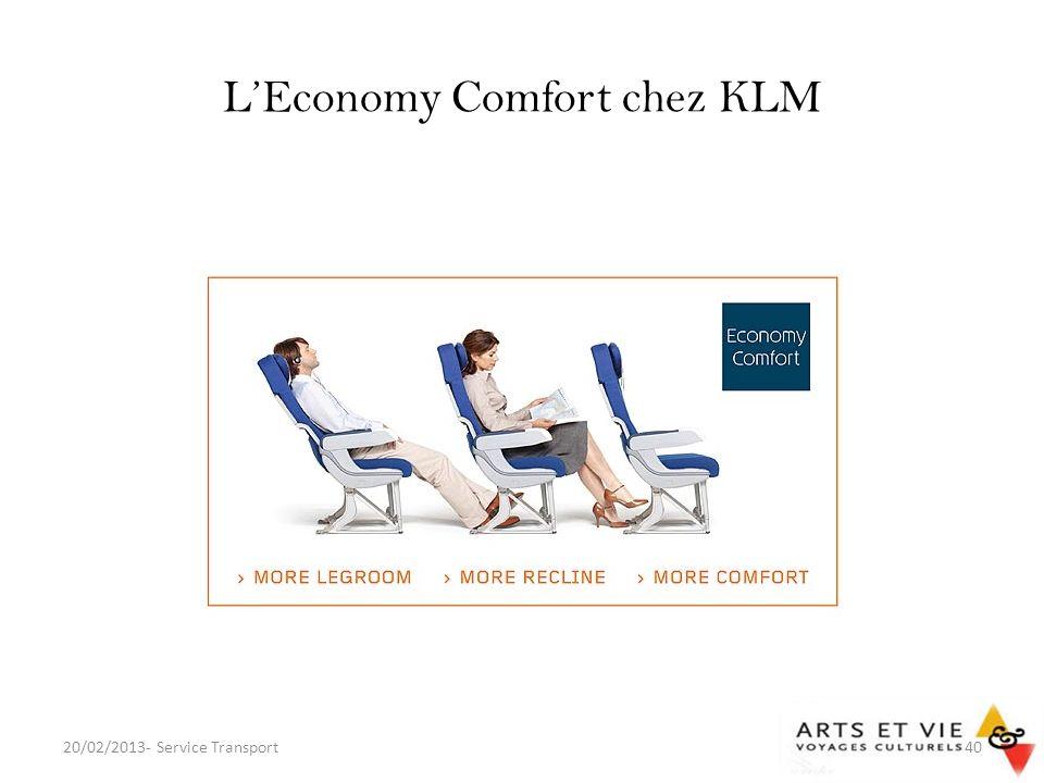 L'Economy Comfort chez KLM