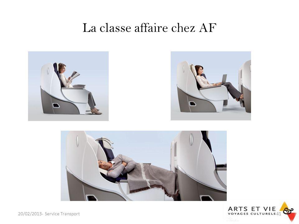 La classe affaire chez AF