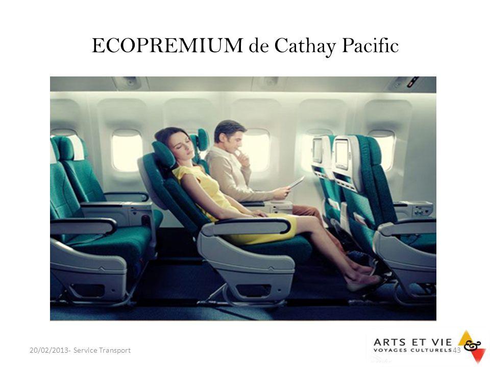 ECOPREMIUM de Cathay Pacific