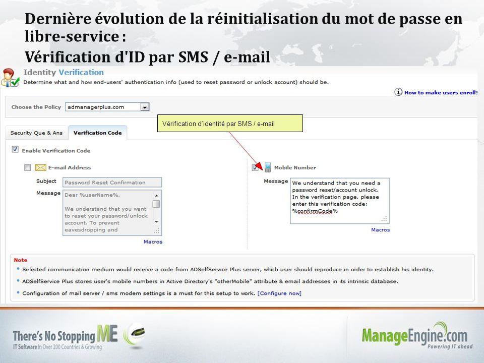 Vérification d ID par SMS / e-mail