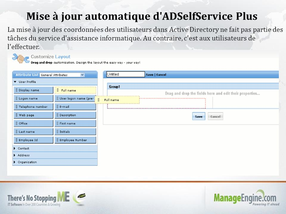 Mise à jour automatique d ADSelfService Plus