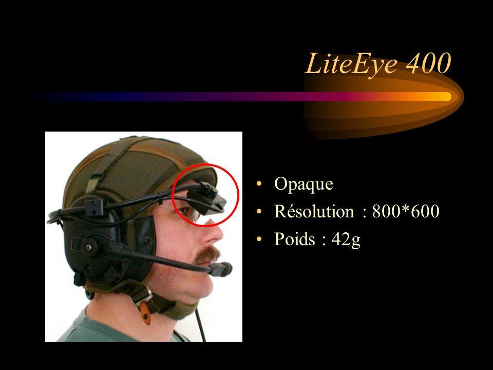LiteEye 400 Opaque Résolution : 800*600 Poids : 42g