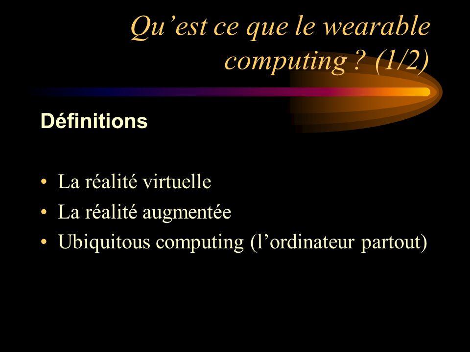 Qu'est ce que le wearable computing (1/2)