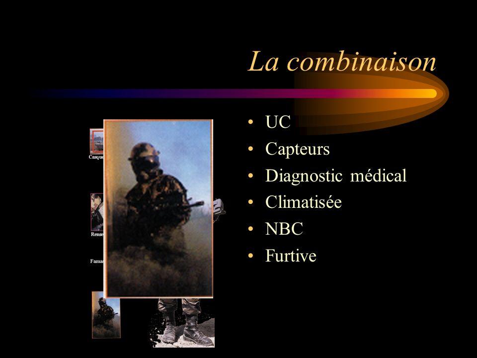 La combinaison UC Capteurs Diagnostic médical Climatisée NBC Furtive