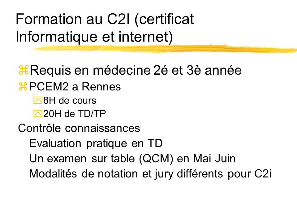Formation au C2I (certificat Informatique et internet)
