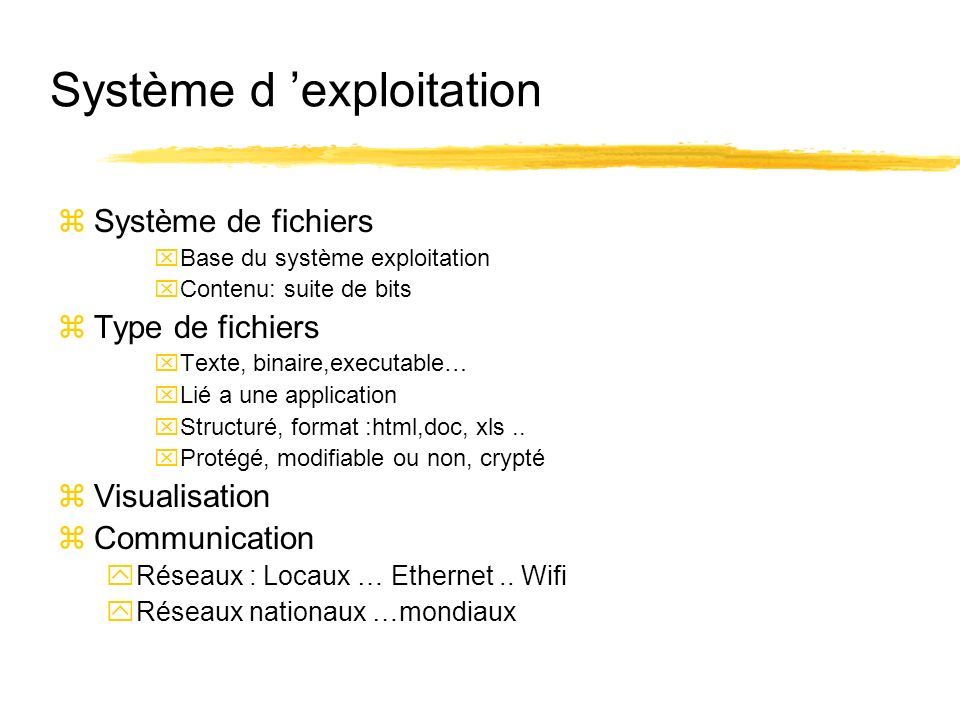 Système d 'exploitation