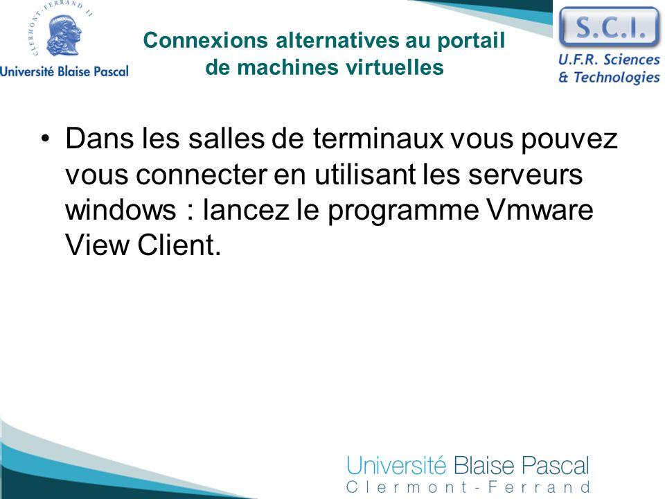Connexions alternatives au portail de machines virtuelles