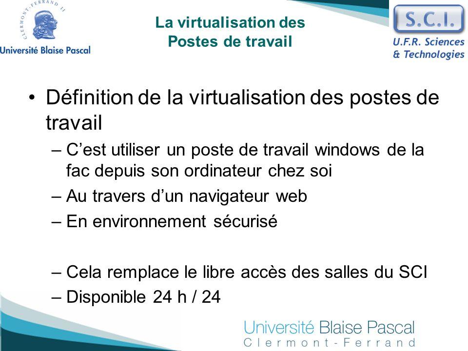 La virtualisation des Postes de travail