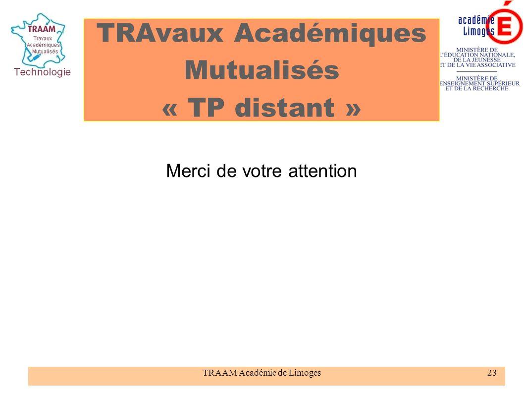 TRAvaux Académiques Mutualisés « TP distant »