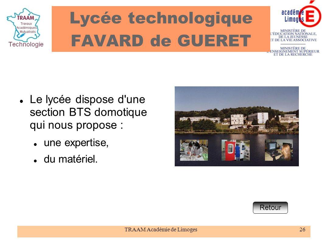 Lycée technologique FAVARD de GUERET