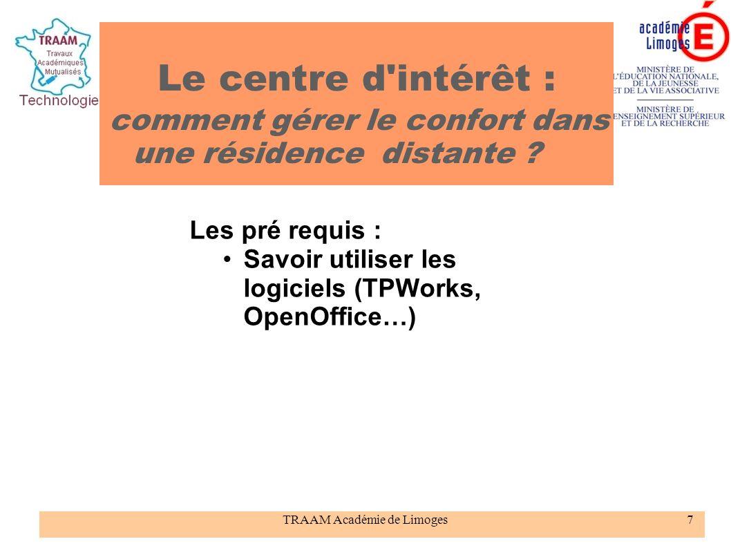 TRAAM Académie de Limoges