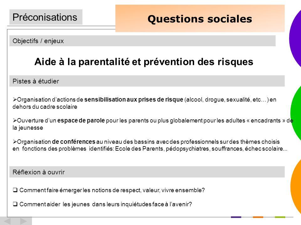 Aide à la parentalité et prévention des risques