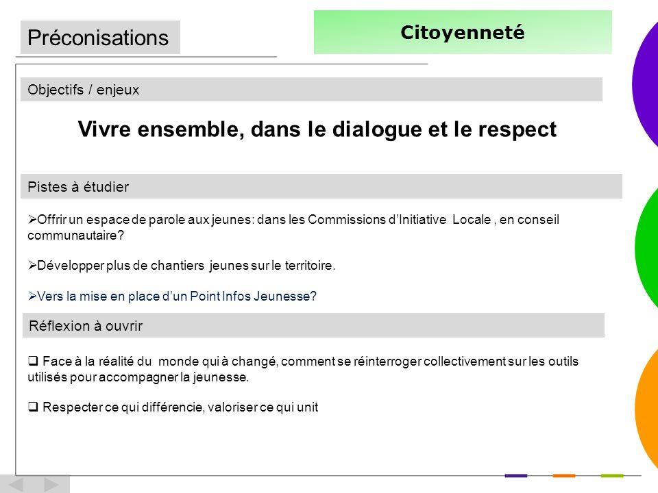 Vivre ensemble, dans le dialogue et le respect